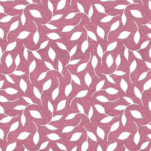 Half Scale Leaves (heather bright pink) Home Decor Bedding, GingerLous