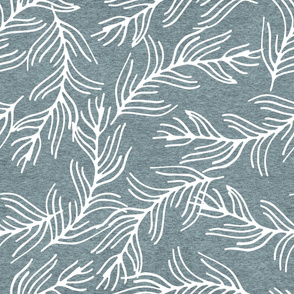 Large Fern Branches (heather pond) Home Decor Bedding, GingerLous