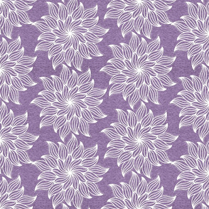 Half Scale Mandala (heather purple) Home Decor Bedding, GingerLous