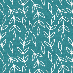 Half Scale Branches (heather turquoise) Home Decor Bedding, GingerLous