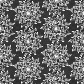 Half Scale Mandala (heather black) Home Decor Bedding, GingerLous