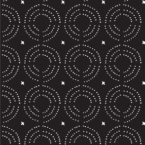 Black African Mudcloth Pattern
