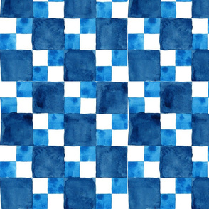 Autism Blue Watercolor Double Check