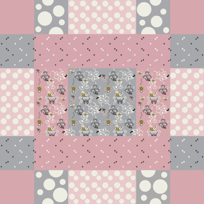 Baby Bee Faux quilt-01