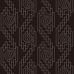 Inca Swirled Ropes in Black