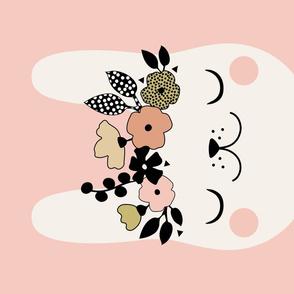 Floral Bunny - Tea towel