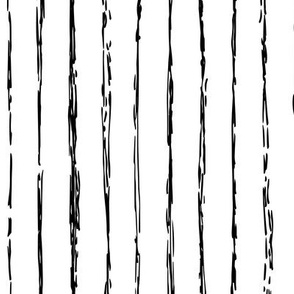 Raw vertical Inky stripes minimal Scandinavian style trend abstract print black and white monochrome