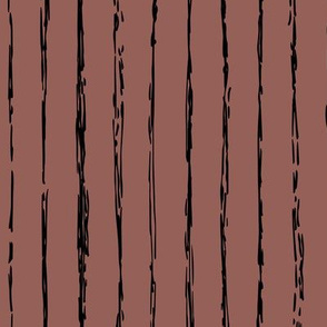 Raw vertical Inky stripes minimal Scandinavian style trend abstract print chocolate brown