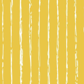 Raw vertical Inky stripes minimal Scandinavian style trend abstract print summer ochre yellow