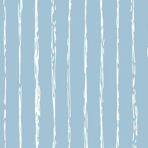 Raw vertical Inky stripes minimal Scandinavian style trend abstract print sea blue