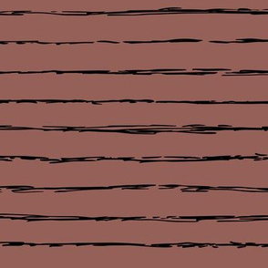 Raw horizontal Inky stripes minimal Scandinavian style trend abstract print chocolate brown
