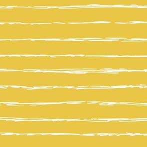 Raw horizontal Inky stripes minimal Scandinavian style trend abstract print summer ochre yellow