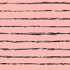 Raw horizontal Inky stripes minimal Scandinavian style trend abstract print summer fall pink black