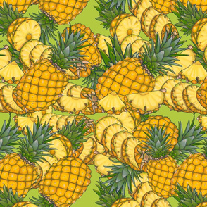 Fruity Moments- pineapple slices green