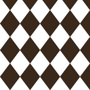 Coco Brown Modern Diamond Pattern