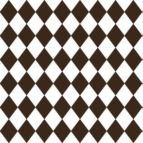 Coco Brown Small Modern Diamond Pattern