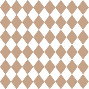 Natural Burlap Small Modern Diamond Pattern