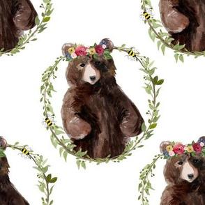"8"" Woodland Floral Bear"