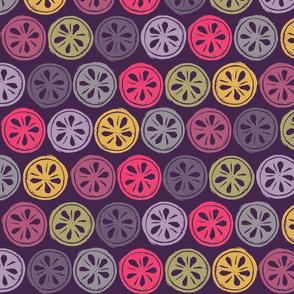 Rainbow Dots on Purple