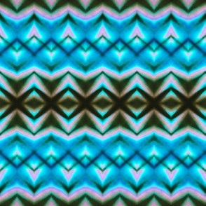 Soft Blue & Teal Zigzags