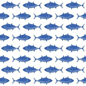 Fish Parade Bright Blue