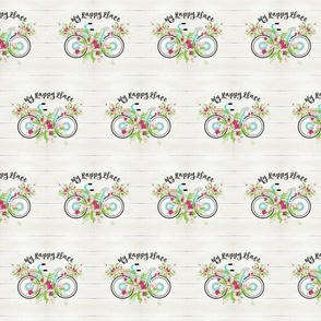 My happy place - floral mint beach bike MED525-  whitewash rustic wood