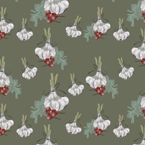 vegetables  hand drawing pattern by m .Sali