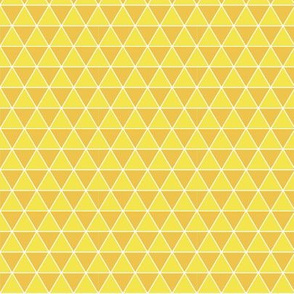 Small Triangles in Pineapple Yellow - equilateral triangles, geometric, gold orange
