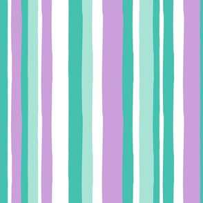 summer stripes - purple and teal - LAD19
