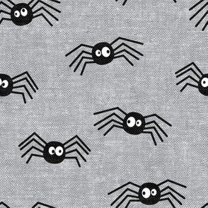 Cute Spiders - Halloween - grey - LAD19