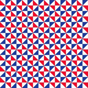 Red White And Blue Geometric
