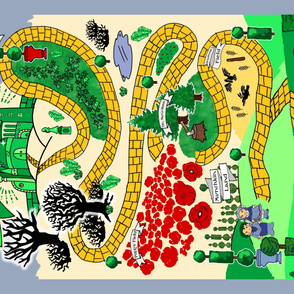 The Land of Oz Yellow Brick Road Playmat