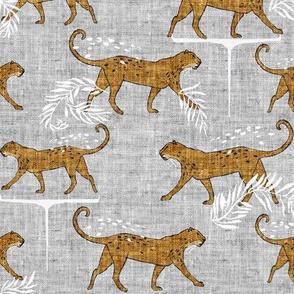 Leopard walk (mustard) MED