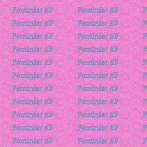 Feminist AF bracelet swatch Non-tiling