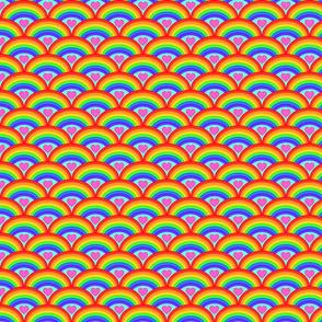 Rainbow Hearts- Medium