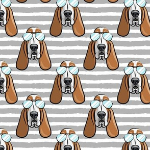 basset hound - sunnies - grey stripes - dogs wearing sunglasses - LAD19