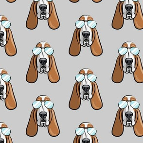 basset hound - sunnies - grey - dogs wearing sunglasses - LAD19