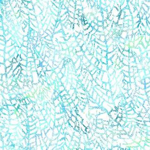 Spotted Sea Fan Aqua on White 150