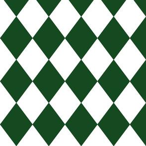 Hunter Green Modern Diamond Pattern