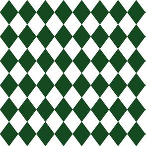 Hunter Green Small Modern Diamond Pattern
