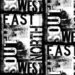 Grunge Text South East North West