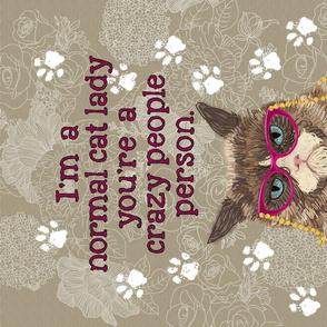 CAT LADY Tea Towel