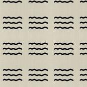 Masai Mara Linen - Onyx Waves