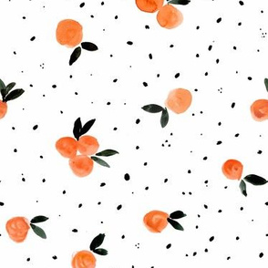 Clementine Cuties and dots on white