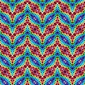Cracked Rainbow Chevron Stripes