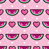 aloha watermelon heart rows
