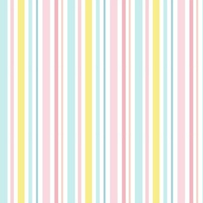 Small Rainbow Stripes Vertical - Summer Fun, swimsuit, swim wear and clothes, bright colorful happy stripes