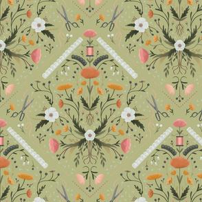 Stitch Bouquet - Sage, Large