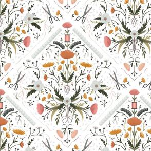 Stitch Bouquet - White, Large