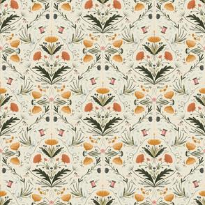 Flowers and Threads - Alabaster, Medium